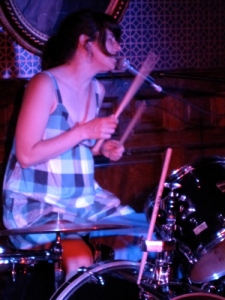 Julie Doiron takes a turn behind the drum kit. (Photo by SPM, all rights reserved.)