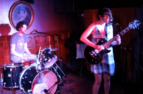 Julie Doiron, with Fred Squire on drums, at Union Hall in Brooklyn on Apri 25, 2009. Photo by SPM, all rights reserved.