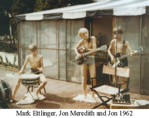 Evidence from Jon's scrapbook shows he was playing music in 1962, when he was about 10 years old.