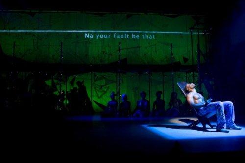 Sahr Ngaujah onstage as Fela Anikulapo-Kuti.