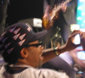 Spike Lee at the final Broadway performance of Passing Strange on July 20, 2008. (Photo by SPM, all rights reserved.)
