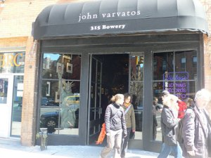 John Varvatos's boutique replaced the legendary club.