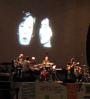 Chicago's postrock ensemble Tortoise wrapped up the show with a jazz-inflected performance accompanied by videos.