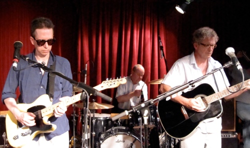 Glenn Mercer, Stanley Demeski and Bill Million of The Feelies at Maxwell's on July 4, 2009. (Copyright 2009, Steven P. Marsh)