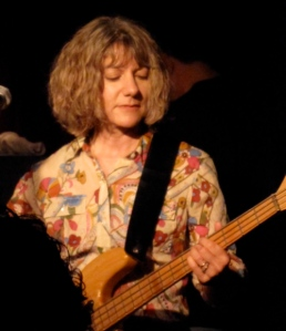 Brenda Sauter: Chill angel on the bass.