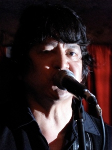 Javier Escovedo onstage at Maxwell's.