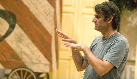 Bartlett Sher rehearses at the Met in 2006.