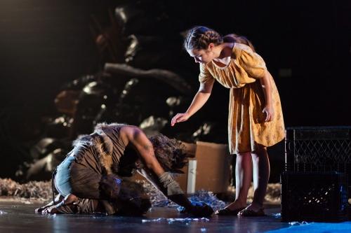 "John Kelly as Prince and Lauren Worsham as Lisa in the world premiere performance of ""Dog Days."" (Photo: James Matthew Daniel)"