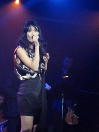Jihae performs at (Le) Poisson Rouge in New York City. (Photo © 2010, Steven P. Marsh)