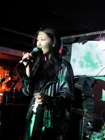 Jihae performs at the Mercury Lounge in 2012. (Photo © 2012, Steven P. Marsh)