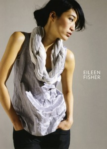Jihae in an Eileen Fisher ad.