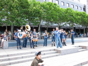 Asphalt Orchestra performing at the 2011 Bang on a Can Marathon.