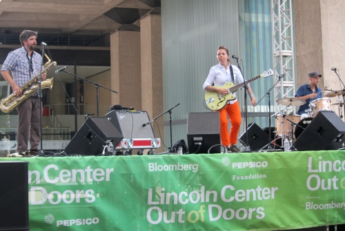 Singer-songwriter Erin McKeown performs at the 2012 Lincoln Center Out Of Doors festival. (Photo © 2012, Steven P. Marsh)