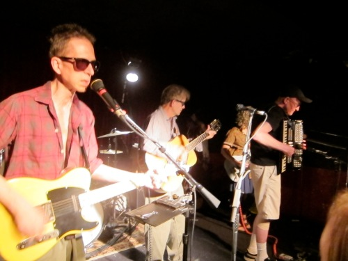 John Baumgartner, of Speed the Plough and The Trypes, and brother-in-law of Stan Demeski, joins The Feelies on accordion.