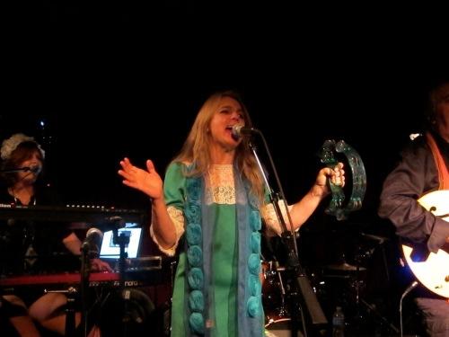 Os Mutantes singer Esmeria Bulgari performs at Maxwell's, Hoboken, N.J., on June 28, 2013. (Photo © 2012, Steven P. Marsh)