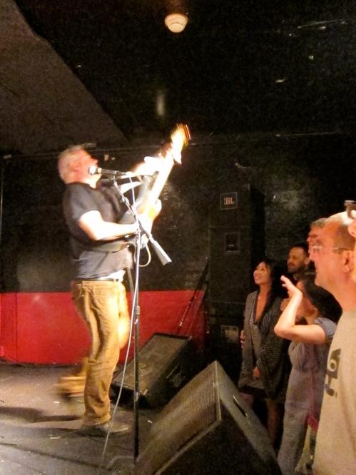 Jon Langford shreds at Maxwell's. (Photo © 2013, Steven P. Marsh)