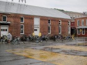 Rain on the MASS MoCA campus. (Photo © 2011, Steven P. Marsh)