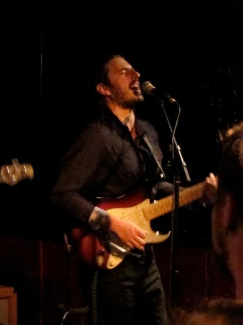 Vitor Trida, guitarist for Os Mutantes, at Maxwell's, Hoboken, N.J., on June 28 2013.  (Photo © 2013, Steven P. Marsh)