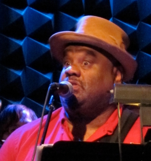 The hat was more crumpled at Barbès on July 25, but Stew's energy was at a peak. (Photo © 2012, Steven P.  Marsh)