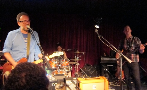 Tuff Sunshine from Brooklyn opens for Os Mutantes at Maxwell's.  (Photo © 2013, Steven P. Marsh)