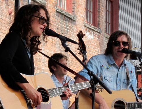 Sarah Lee Guthrie and Johnny Irion at Wilco's Solid Sound Festival in 2011. (Photo © 2011, Steven P. Marsh)