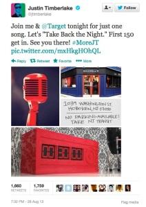 Justin Timberlake's Maxwell's tweet.