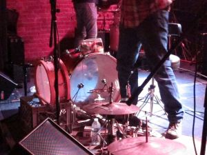 Lawyer Dave's percussion set.