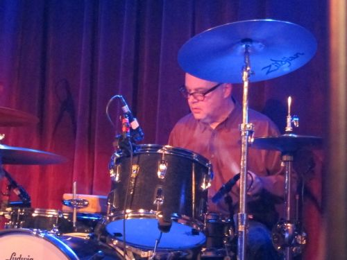 Stan Demeski concentrates on his rock-solid beat.