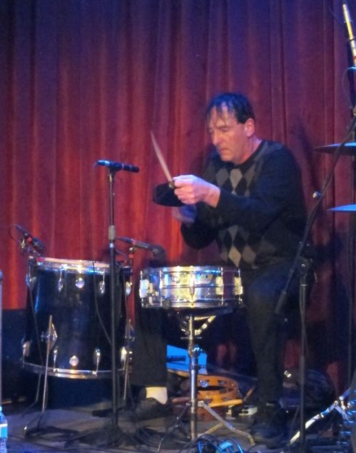 Percussionist Dave Weckerman in full-concentration mode.
