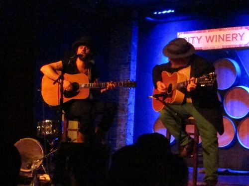 Langhorne Slim and Kenny Siegal at City Winery. (© 2014, Steven P. Marsh/willyoumissme.com)