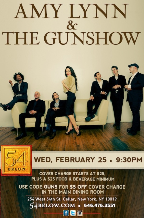 Amy Lynn & The Gunshow blasts into 54 Below at 9:30 p.m. on Wednesday, Feb. 25.