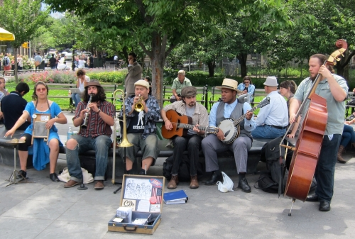 Jessy Carolina & The Hot Mess in Washington Square Park in June 2012. (© 2012, Steven P. Marsh/willyoumissme.com)