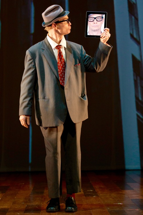 "Bill Irwin in the world premiere run of ""Old Hats"" at Signature Theatre Company. (© 2013 Joan Marcus)"