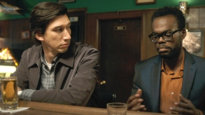 Adam Driver and William Jackson Harper in